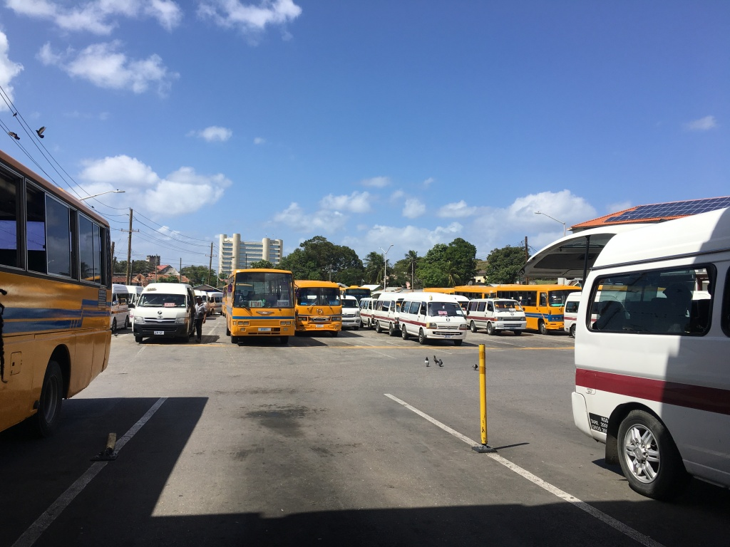 this image shows constitution river terminal bus station in Bridgetown Barbados.