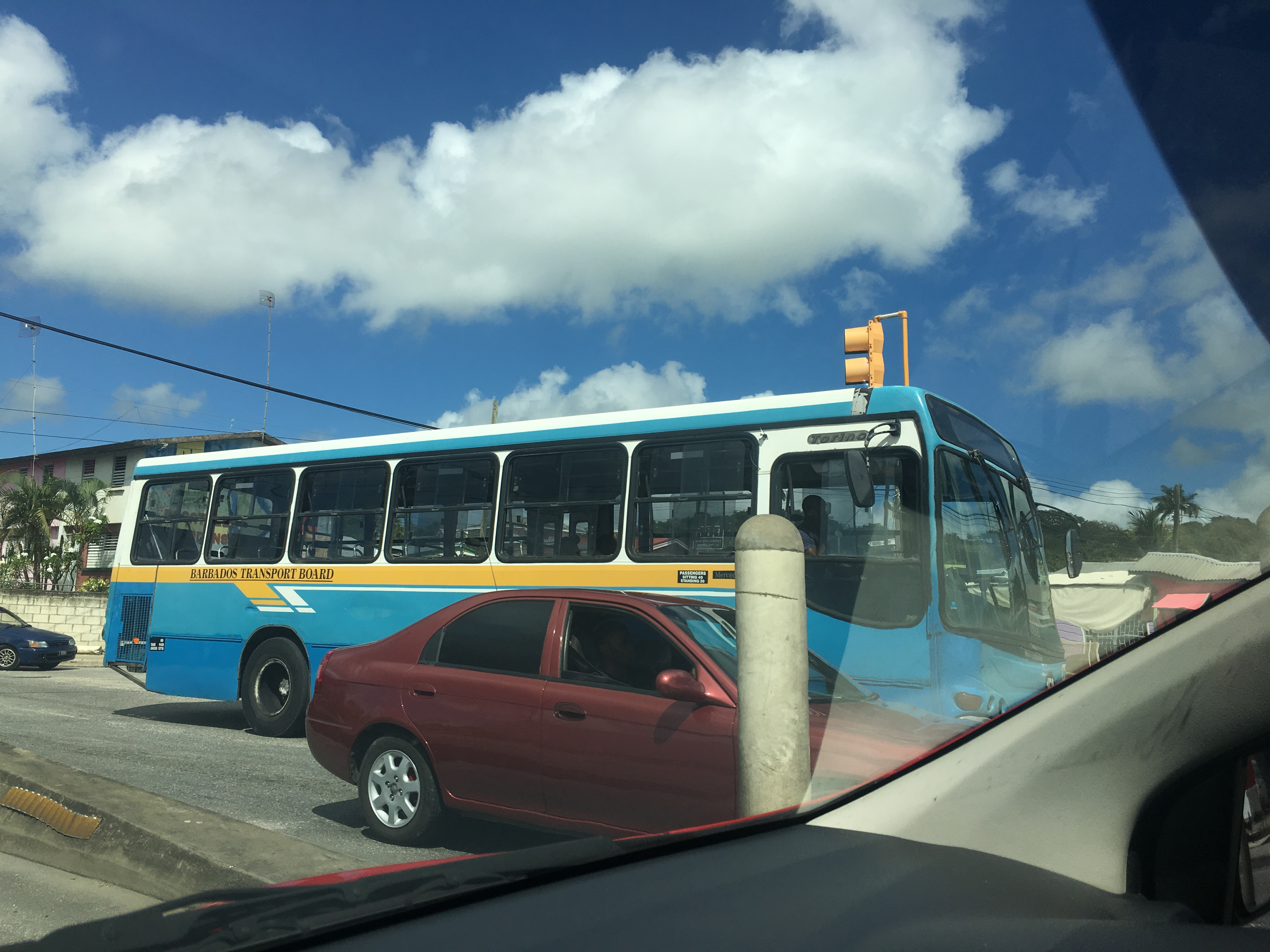 Government Bus in Barbados
