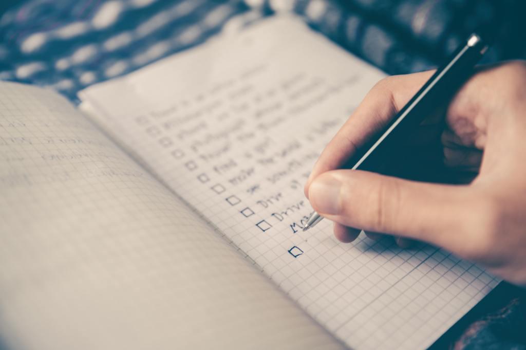 ticking checklist